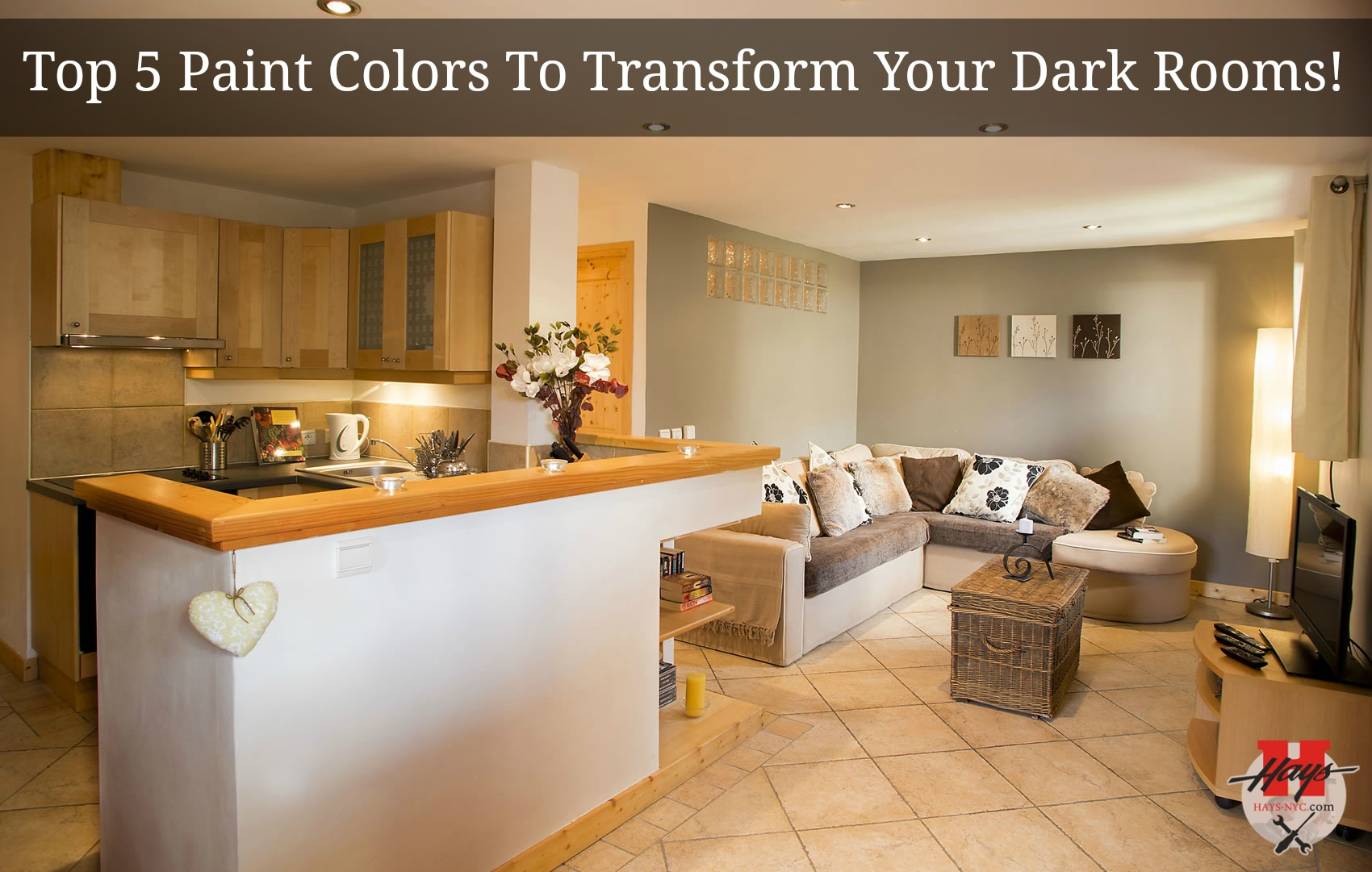 Top 5 Paint Colors To Transform Your Dark Rooms