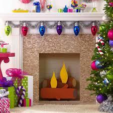 Faux Cardboard Fireplace